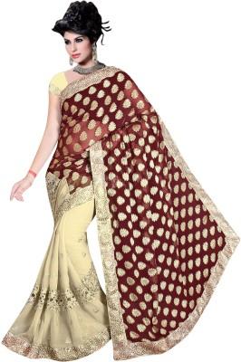 Mahadevi Embellished, Embriodered Bollywood Chiffon, Jacquard Sari