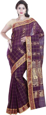 SriSyndicate Striped Fashion Cotton Sari