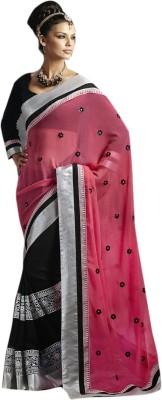 Ekjhalak Embriodered Fashion Georgette Sari
