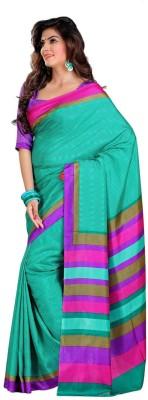 Ethnic Andaaz Harringbone, Geometric Print Fashion Art Silk, Cotton Sari