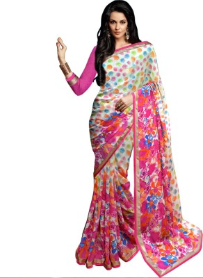 Wama Fashion Printed Daily Wear Georgette Sari