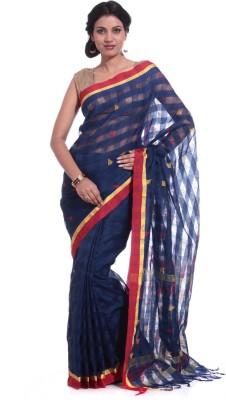 Adaab Checkered Daily Wear Handloom Silk Sari