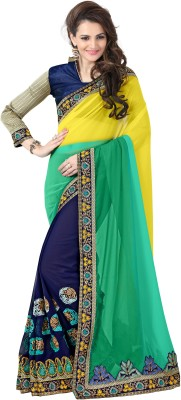 onlinefayda Embriodered Daily Wear Georgette Sari