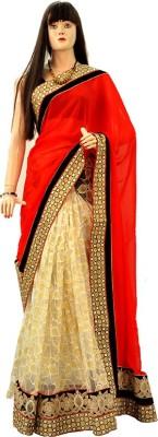 Dhaarona Style Boutique Embriodered, Self Design Fashion Chiffon, Net Sari