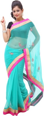 Goodyygoods Self Design Fashion Chiffon Sari