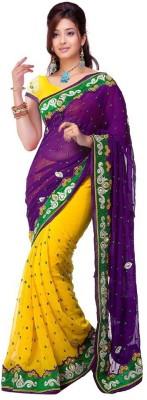 Janya Self Design Fashion Chiffon Sari