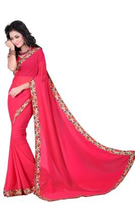 Jagdamba Creation Plain Fashion Chiffon Sari