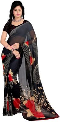 Stylobby Floral Print Daily Wear Georgette Sari
