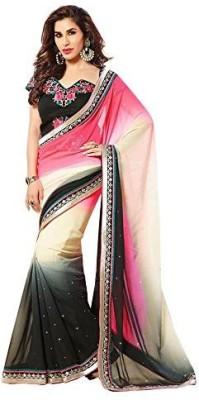 PAHAL FASHION Self Design Fashion Georgette Sari