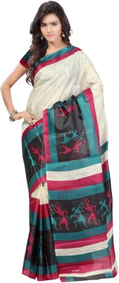 Ambaji Graphic Print Daily Wear Taffeta Sari