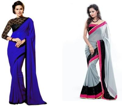 Bindani Studio Embriodered Daily Wear Handloom Chiffon Sari