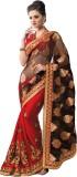 Priyankas Embroidered Bollywood Dupion S...