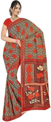 Simran Fashion Printed Daily Wear Handloom Georgette Sari