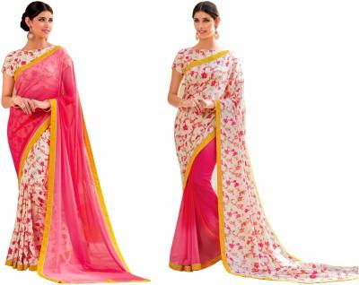 Rajshrifashions Embriodered Lugade Georgette Sari
