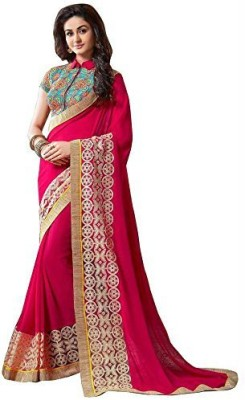 Morpankh Enterprise Embriodered Bollywood Chiffon Sari