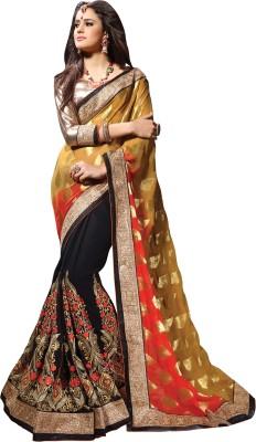Aasvaa Embriodered Fashion Georgette Sari