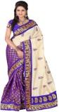 Varibha Solid Fashion Silk Saree (Purple...