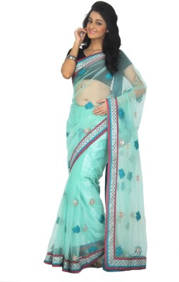 Rashee Solid, Self Design Fashion Net Sari