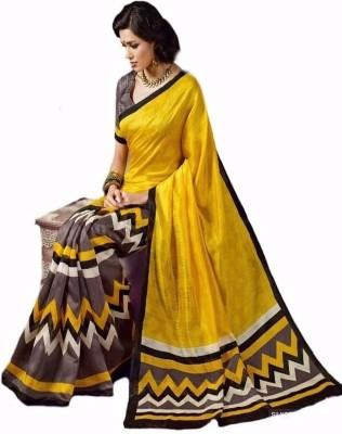 Manisha Sarees Printed Bhagalpuri Silk Sari
