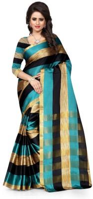 Skyblue Printed Fashion Polycotton Sari