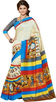 Preet Creations Printed Bhagalpuri Art Silk Sari