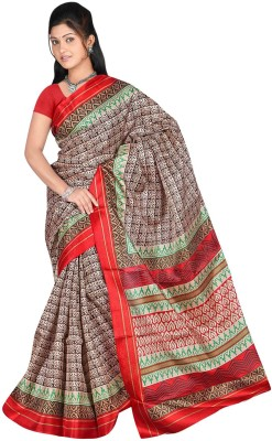 DFTZ Checkered Bhagalpuri Silk Sari