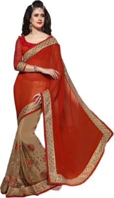 ARsalesIND Embriodered Fashion Georgette, Net Sari