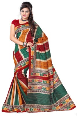 Adah Fashions Printed Fashion Silk Sari