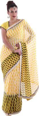 Aumkar Printed Fashion Chiffon Sari