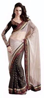Santosafashion Embriodered Bollywood Silk Cotton Blend Sari