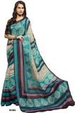 Shoppie Zone Printed Daily Wear Silk Sar...