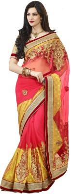 Vipul Embellished, Embriodered Fashion Art Silk, Net Sari