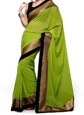 Crony Self Design Bollywood Chiffon Sari
