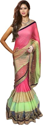 Clother Self Design Banarasi Lycra, Georgette Sari