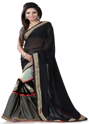 STYLO SAREES Self Design Fashion Net, Georgette Sari