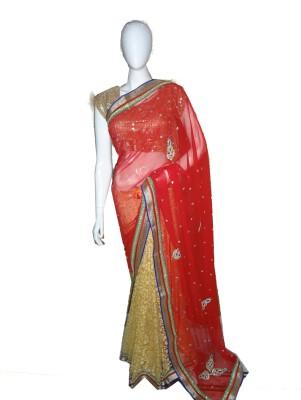 SanSaree Self Design Fashion Brasso Sari