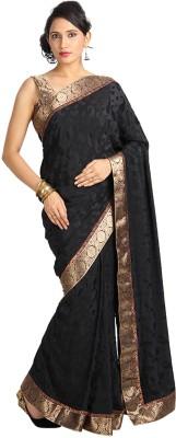 Vandanaraj Self Design Fashion Crepe Sari