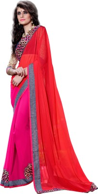 7 Colors Lifestyle Embriodered Fashion Handloom Georgette Sari