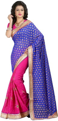 Susmi Embriodered Bollywood Jacquard Sari