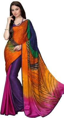 Jambudi Creation Printed Fashion Silk, Jacquard Sari