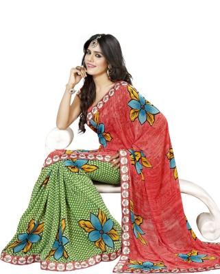 Asopalav Printed Bhagalpuri Chiffon Sari