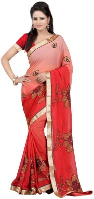 Abcd Creations Self Design Bollywood Chiffon Sari