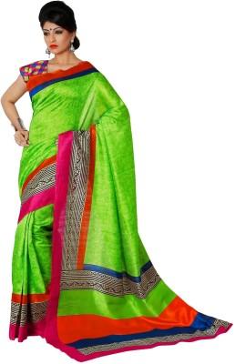 365 Labels Printed Bhagalpuri Art Silk Sari
