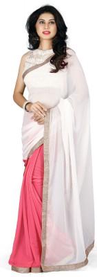 Naksh Creation Solid Bollywood Georgette Sari