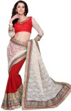 Aasvaa Self Design Fashion Net Saree (Re...