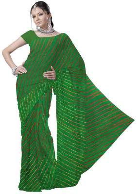 Indiangiftemporium Striped Daily Wear Handloom Crepe Sari