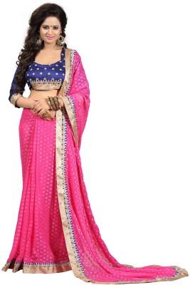 Suitsvilla Embriodered Bollywood Viscose Sari