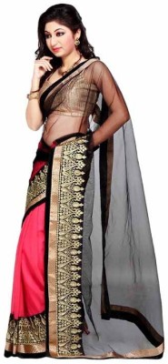 Saiyaara Fashion Embriodered Fashion Net, Chiffon Sari