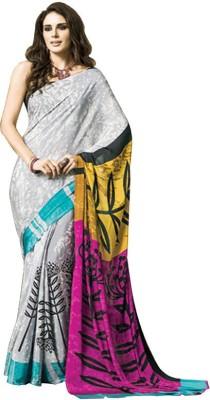 Tulaasi Plain Fashion Crepe Sari
