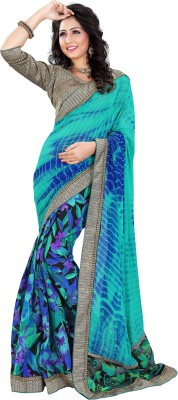 Smile Fashion Printed Daily Wear Handloom Georgette Sari